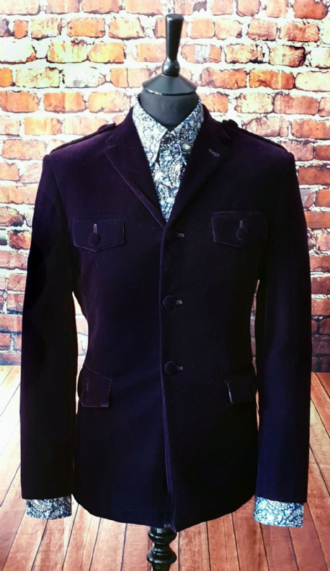 "The "" Winston"" Plush Purple Velvet Jacket"